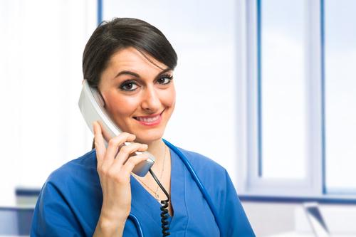 Clinics should maintain a good phone etiquette.