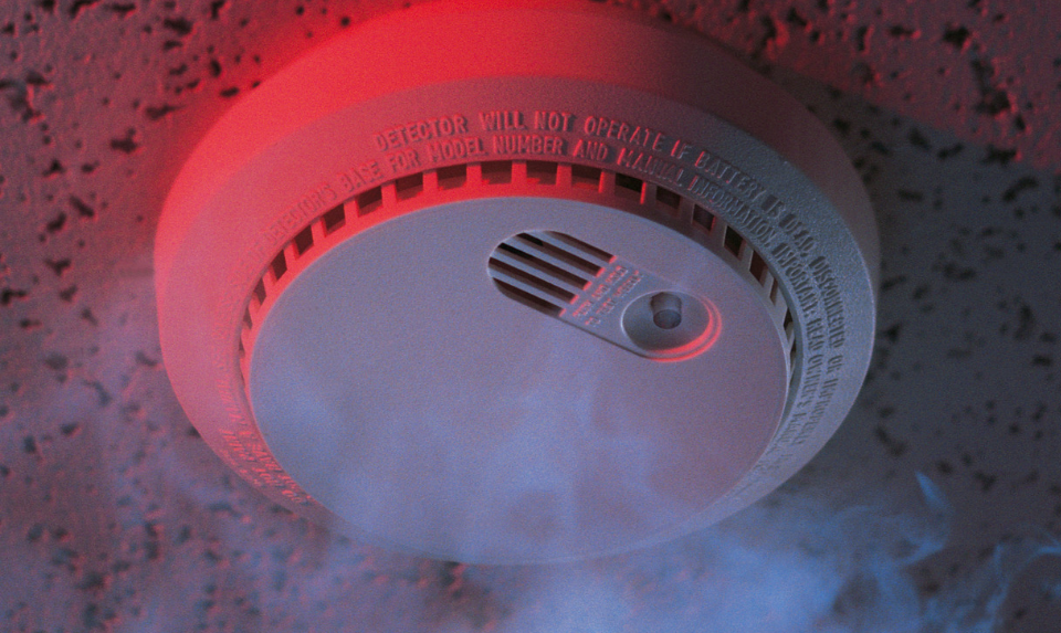 photo of a smoke alarm